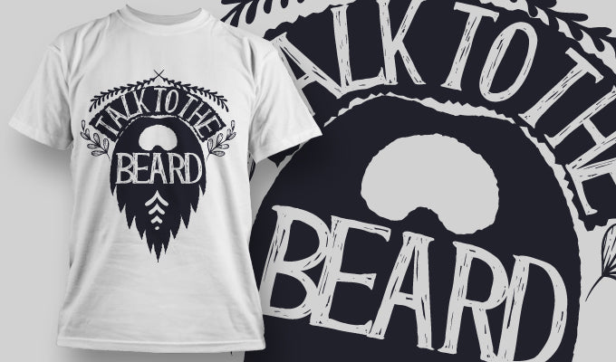 Talk to the beard T-Shirt - Omega Design