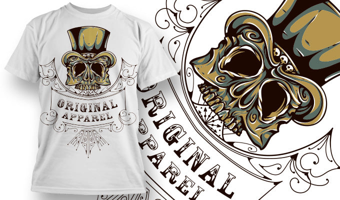 Original Apparel Skull - T-Shirt - Shirto.nl