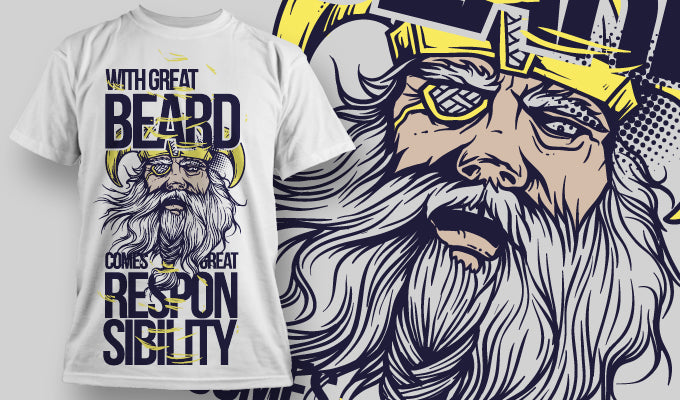 Great Beard Great Responsibility T-Shirt - Omega Design