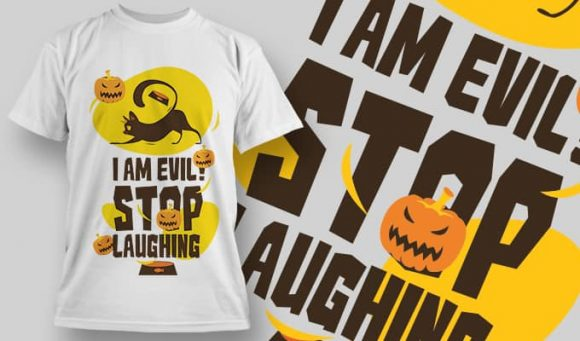I am evil stop laughing - T-Shirt - Shirto.nl