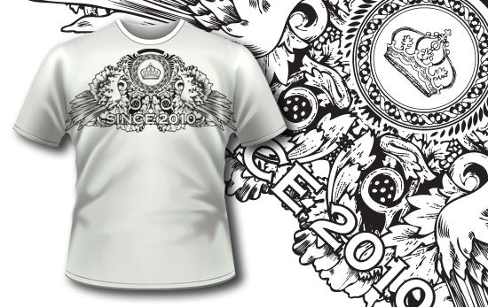 Since 2010 T-Shirt - Omega Design