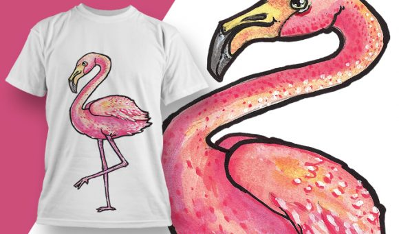 Flamingo - T-Shirt - Shirto.nl