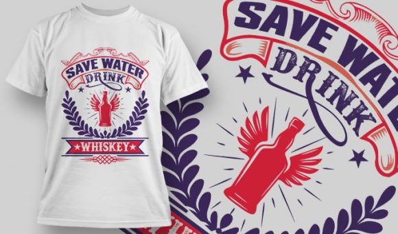 Save Water Drink Whiskey - T-Shirt - Shirto.nl
