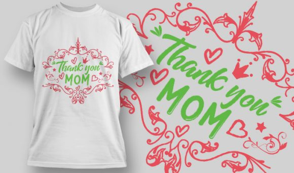 Thank you Mom T-Shirt - Omega Design