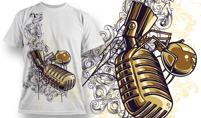 Insect Microphone - T-Shirt - Shirto.nl