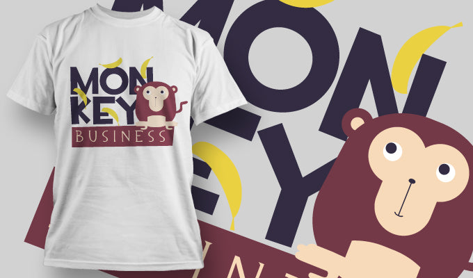 Monkey Business - T-Shirt - Shirto.nl