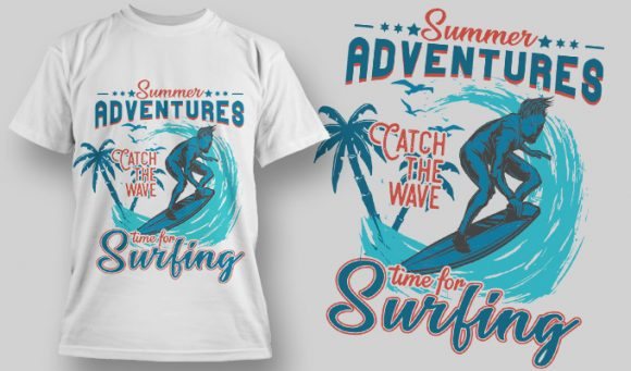 Time for surfing - T-Shirt - Shirto.nl