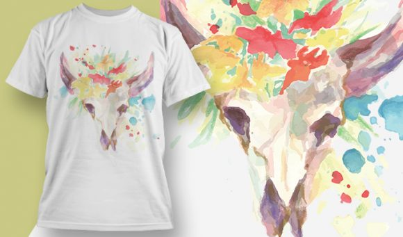 Colorful bull - T-Shirt - Shirto.nl