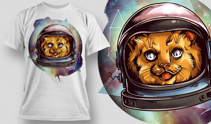 Cosmic Kitty T-Shirt - Omega Design