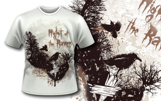 Night of the raven T-Shirt - Omega Design