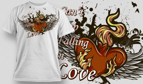 Falling in Love T-Shirt - Omega Design