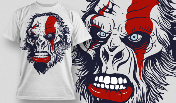 Ape of war T-Shirt - Omega Design