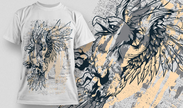High Eagle T-Shirt - Omega Design