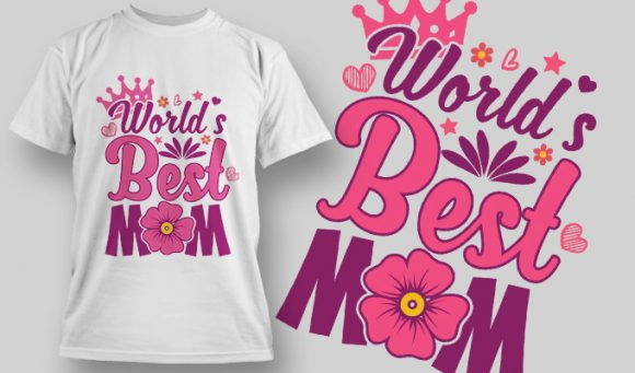 World's Best Mom - T-Shirt - Shirto.nl