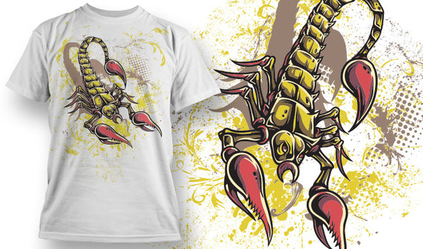 Yellow Scorpion T-Shirt - Omega Design