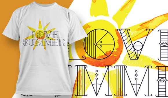 Love summer T-Shirt - Omega Design