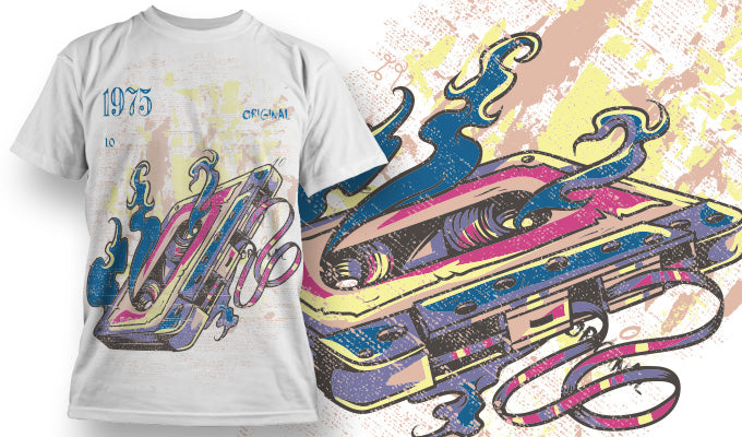 Burning Casette - T-Shirt - Shirto.nl