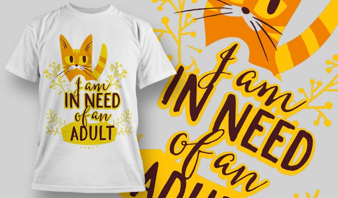 I am in need of an adult - T-Shirt - Shirto.nl