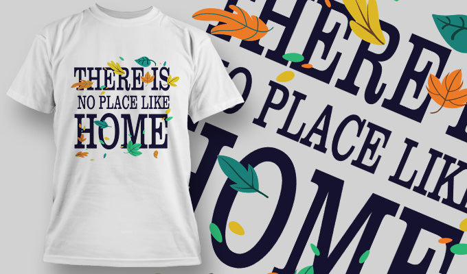 There's no place like home - T-Shirt - Shirto.nl