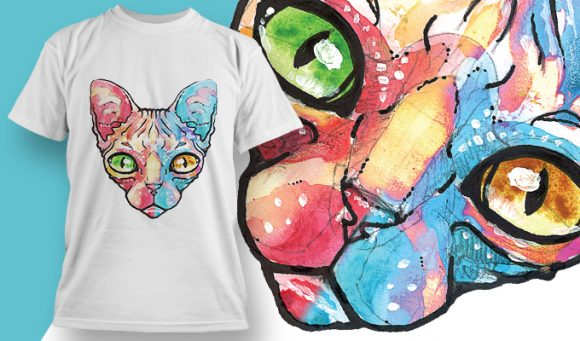 Egyptian Cat T-Shirt - Omega Design