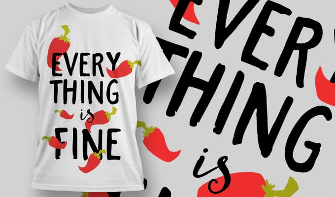 Everything is fine - T-Shirt - Shirto.nl