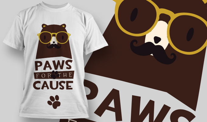 Paws for the Cause - T-Shirt - Shirto.nl