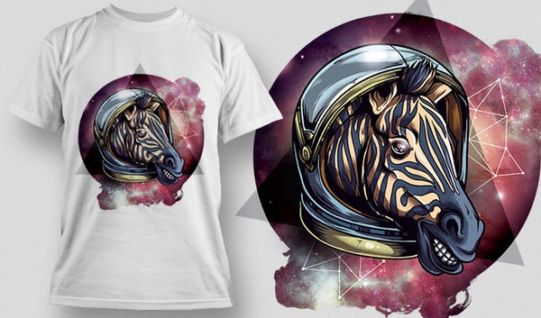 Cosmic Zebra T-Shirt - Omega Design