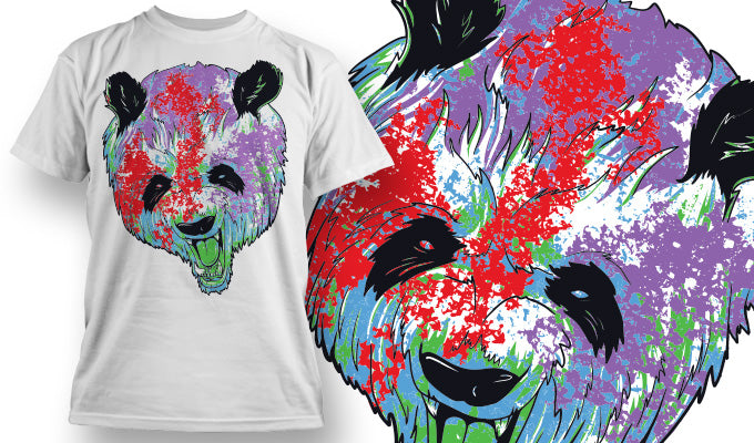 Colourful Panda - T-Shirt - Shirto.nl