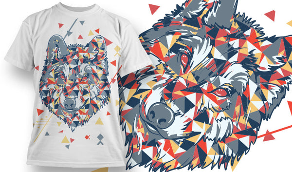 Colorful Wolf - T-Shirt - Shirto.nl