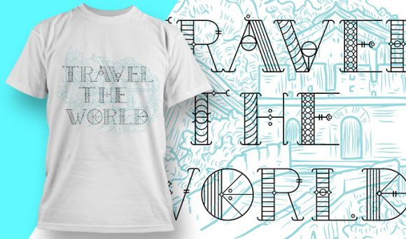 Travel the world - T-Shirt - Shirto.nl