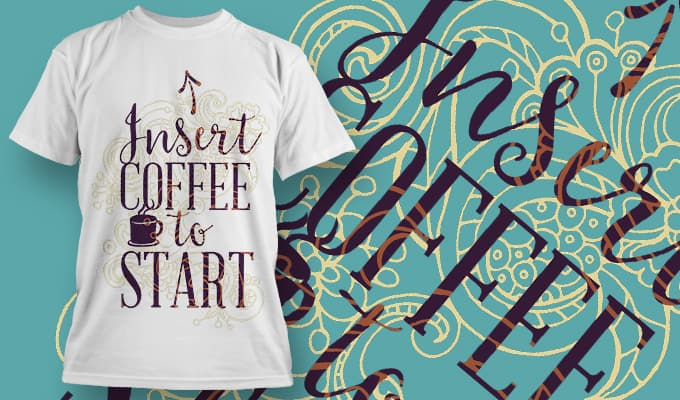 Insert Coffee to start - T-Shirt - Shirto.nl