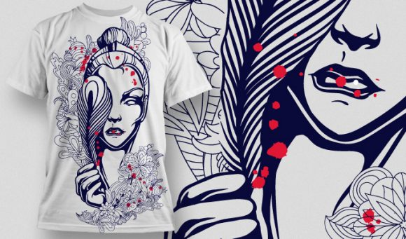 Feather Woman - T-Shirt - Shirto.nl