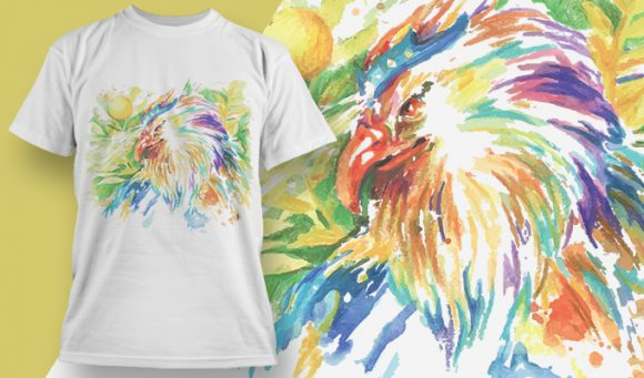 Watercolor adelaar - T-Shirt - Shirto.nl