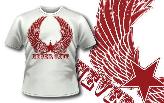Never quit T-Shirt - Omega Design