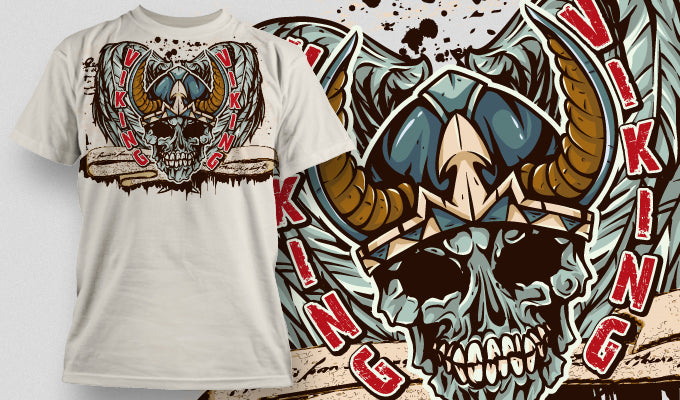 Viking king - T-Shirt - Shirto.nl