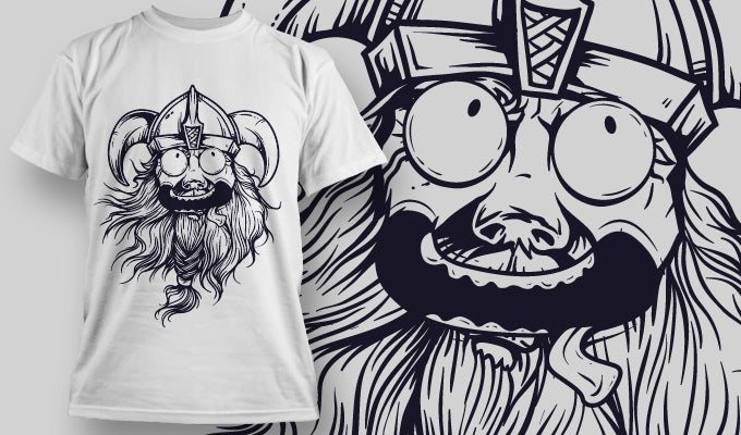 Crazy Viking - T-Shirt - Shirto.nl