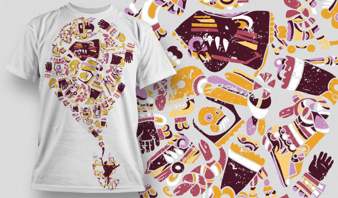 Candy Monster - T-Shirt - Shirto.nl