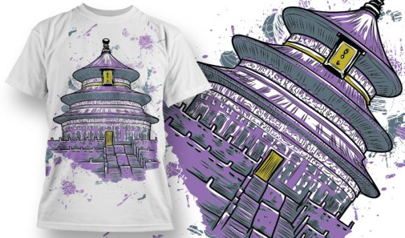Temple T-Shirt - Omega Design