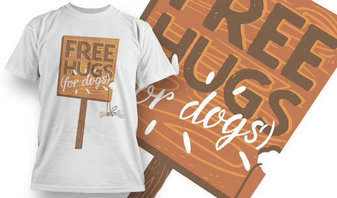 Free hugs for dogs - T-Shirt - Shirto.nl