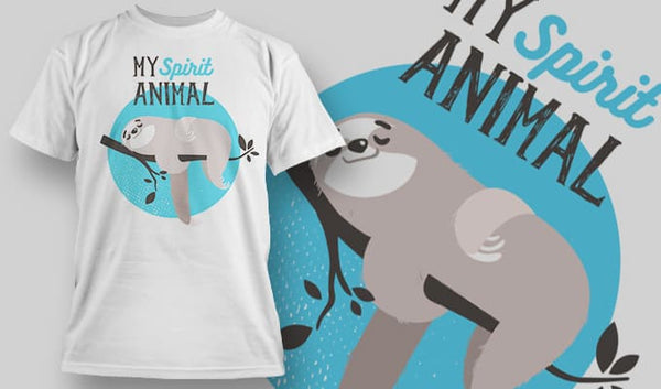 My Spirit animal - T-Shirt - Shirto.nl
