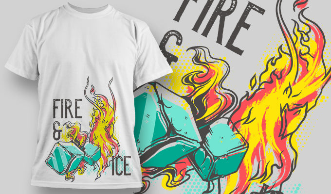 Fire and Ice - T-Shirt - Shirto.nl