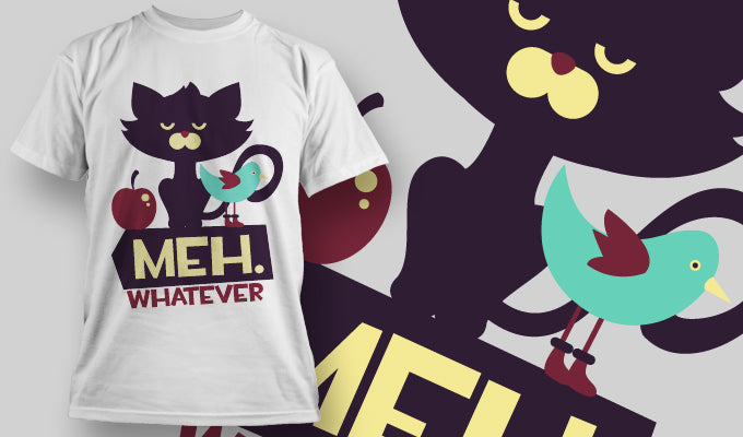 Meh Whatever - T-Shirt - Shirto.nl
