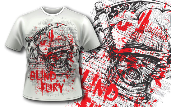 Blind Fury T-Shirt - Omega Design