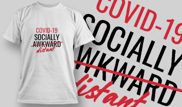 COVID-19 Socially Distant - T-Shirt - Shirto.nl