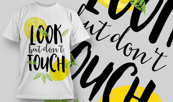 Look but don't Touch - T-Shirt - Shirto.nl
