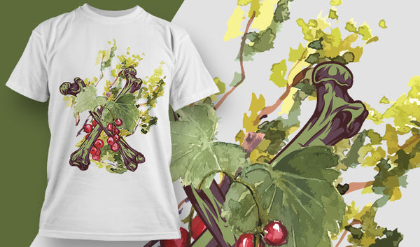 Berry and Bone T-Shirt - Omega Design