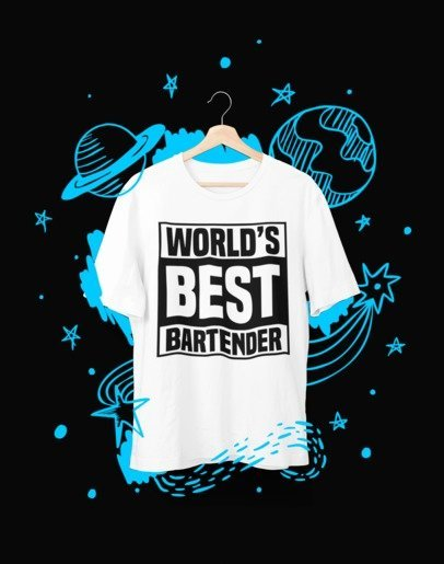 World's best Bartender - T-Shirt - Shirto.nl