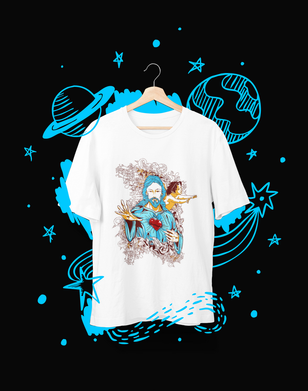 God in Blue - T-Shirt - Shirto.nl