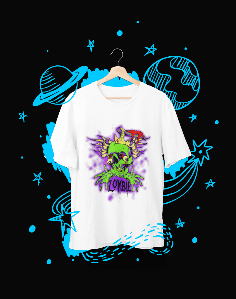 Zombie Schedel - T-Shirt - Shirto.nl