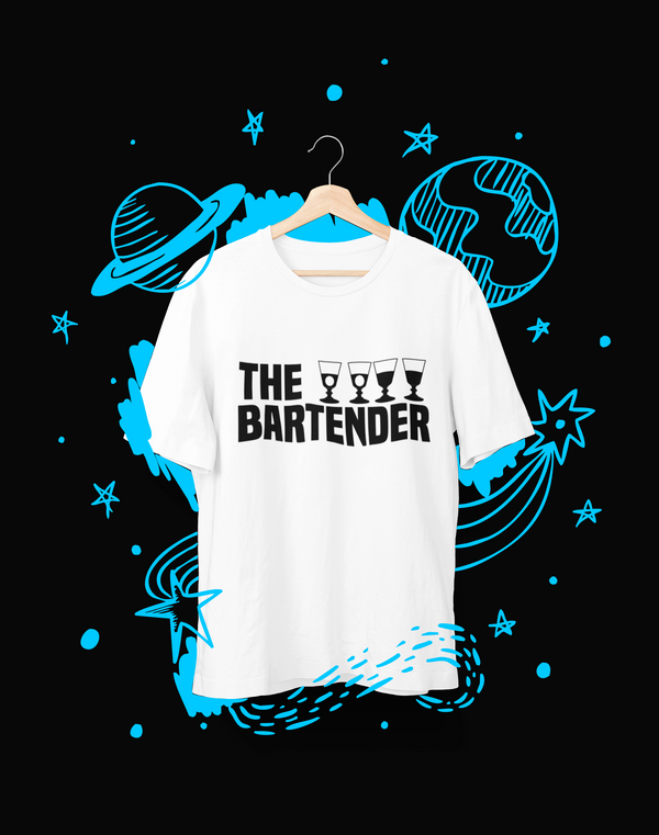 The bartender - T-Shirt - Shirto.nl